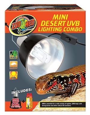 Zoo Med Mini Desert Uvb Lighting Combo For Sale
