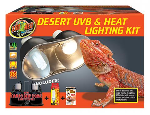 Zoo Med Desert Uvb Amp Heat Lighting Kit