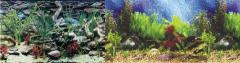 "Penn Plax Cage Background 24"" Tall Shalescape / Tropical Blue"