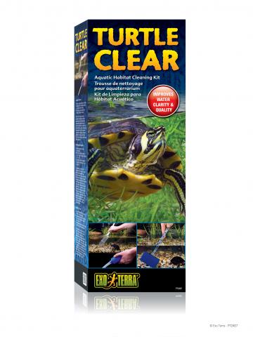 The Exo Terra Turtle Clear Aquatic Habitat Cleaning Kit is a set of ...