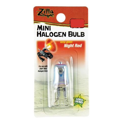 Zilla Mini Halogen Bulb Night Red 50 watt
