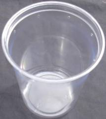 "Pinnpack 32oz Clear 4.5"" Dia. Deli Cups (pre-punched)"