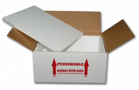"15 x 11 x 7"" Styrofoam Lined Shipping Boxes"