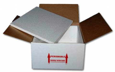 "16 x 16 x 8"" Styrofoam Lined Shipping Boxes"