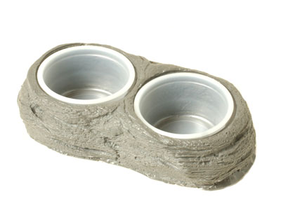 Pangea Stone Dual Gecko Cup Holder Dish