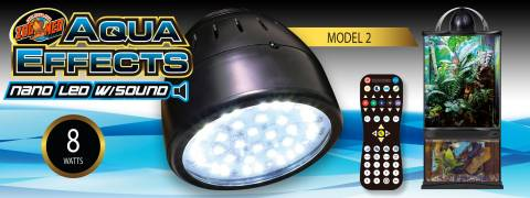 Zoo Med Aqua Effects Model 2 Nano LED with Sound