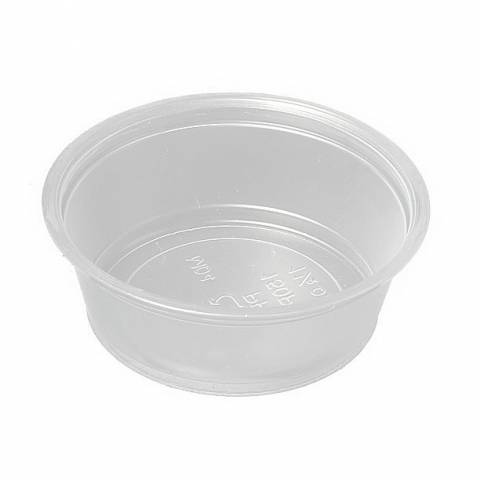 1 1/2 Ounce Plastic Feeding Cups (case of 2500)