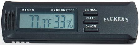 Flukers Digital Thermometer/Humidity Gauge