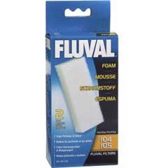 Fluval 106 Foam Replacement 2 pack