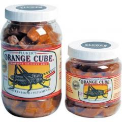 Flukers Orange Cube Complete Cricket Diet- 6oz