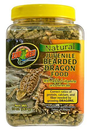 Zoo Med Natural Juvenile Bearded Dragon Food 10 oz
