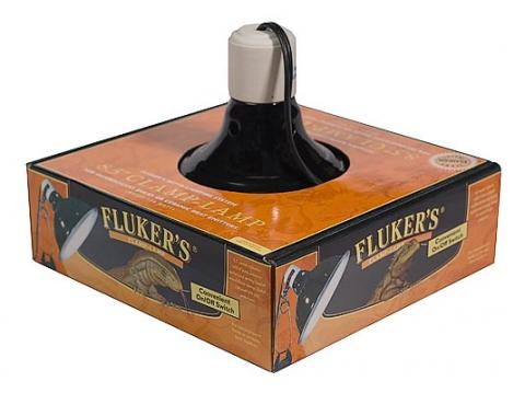 "Fluker 8.5"" Ceramic Lamp with on/off switch"
