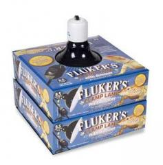 "Flukers 8.5"" Ceramic Clamp Lamp with dimmer"