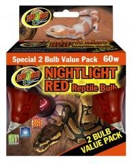 Zoo Med 60 watt red bulb 2 pack