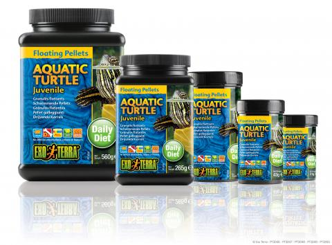 Exo Terra Floating Pellet Juvenile Aquatic Turtle Food 3.1oz