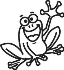 Small Frog Car Window Vinyl Decal