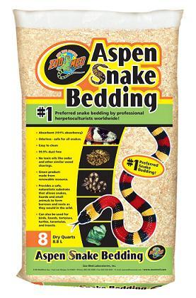 Zoo Med Aspen Snake Bedding 8 quart