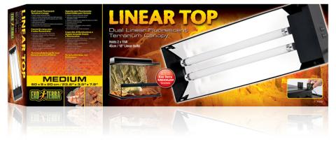 The Exo Terra Linear Top is a dual linear fluorescent light fixture especially designed to fit perfectly on the Exo Terra Natural Terrarium.  sc 1 st  LLLReptile & Exo Terra Dual Linear Fluorescent Canopy Fixture 24
