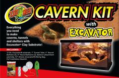 Zoo Med Cavern Kit with 12lbs of Excavator Bedding