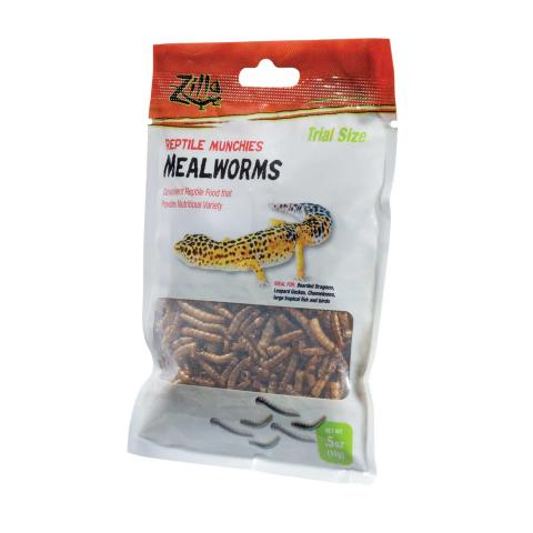 Zilla Reptile Munchies Mealworms 3.75oz