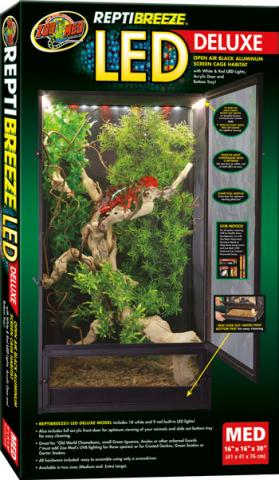 Zoo Med Reptibreeze Led Deluxe Screen Cage Medium For Sale