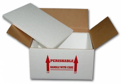 "12 x 9 x 6"" Stryofoam Lined Shipping Boxes"