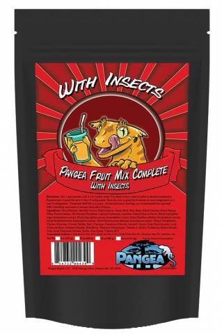 Pangea Fruit Mix With Insects Complete Gecko Diet 32oz