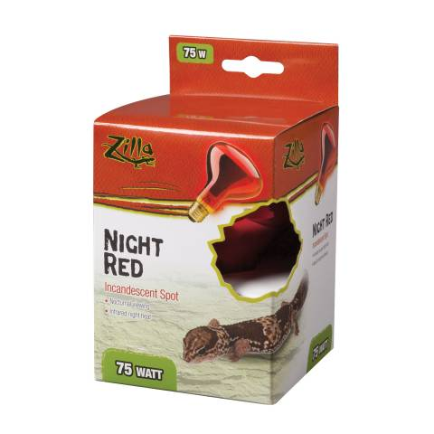 Zilla Incandescent Night Red Spot Bulb 75 watts