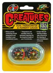 Zoo Med Creatures Dual Thermometer & Humidity Gauge (glow in dark)