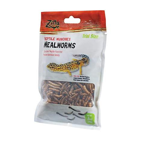Zilla Reptile Munchies Mealworms Trial Size .35oz
