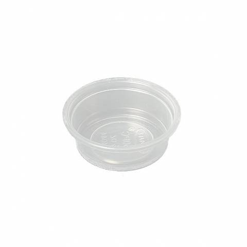 1/2 Ounce Plastic Feeding Cups (case of 2500)