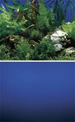 "Penn Plax Cage Background 19 1/4"" Tall Blue Waterscape / Deep Blue Sea"