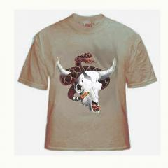 Western Diamondback Rattlesnake and Horned Toad On Skull T Shirt