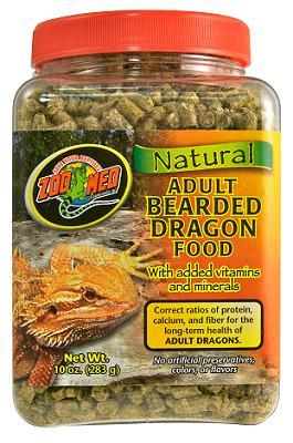 Zoo Med Natural Adult Bearded Dragon Food 20 oz