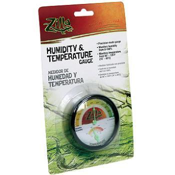 Zilla Analog Temperature and Humidity Gauge