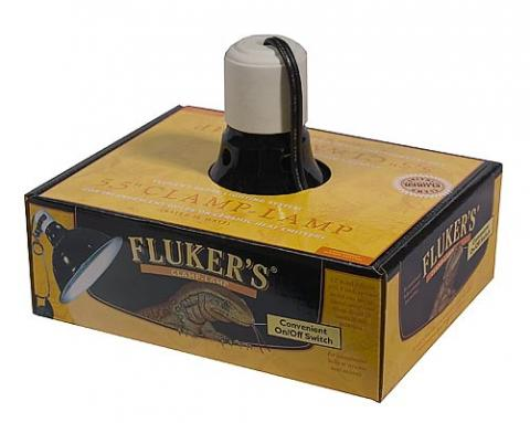 "Fluker 5.5"" Ceramic Lamp with on/off switch"