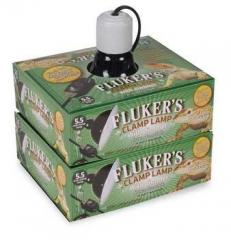 "Flukers 5.5"" Ceramic Clamp Lamp with dimmer"