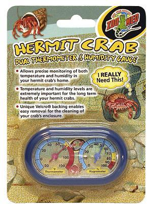 Zoo Med Hermit Crab Thermometer / Humidity Gauge